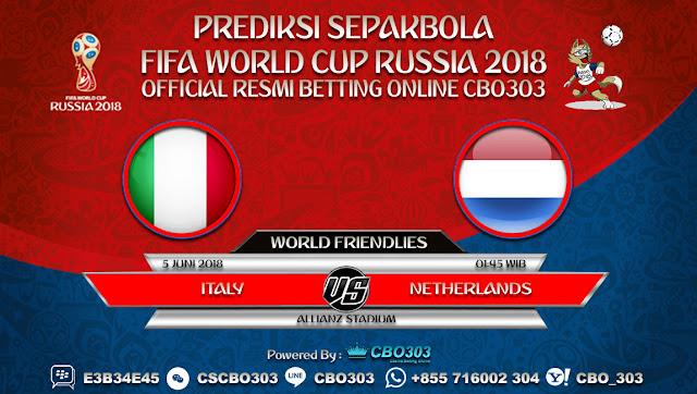Prediksi Bola Italy VS Netherlands 05 Juni 2018