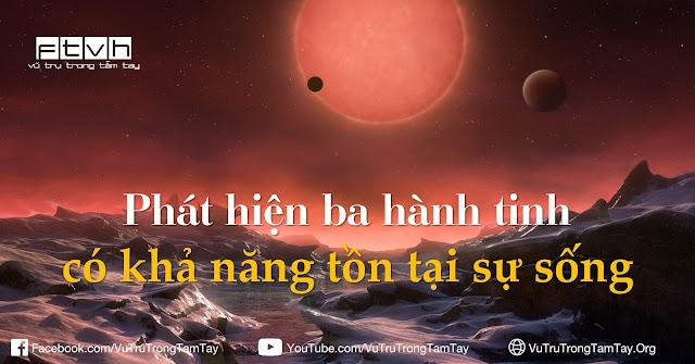 Hình ảnh minh họa của họa sĩ về góc nhìn hướng về ngôi sao TRAPPIST-1 và hành tinh gần hơn từ hành tinh xa nhất trong ba hành tinh vừa được phát hiện. Credit : ESO/M. Kornmesser.