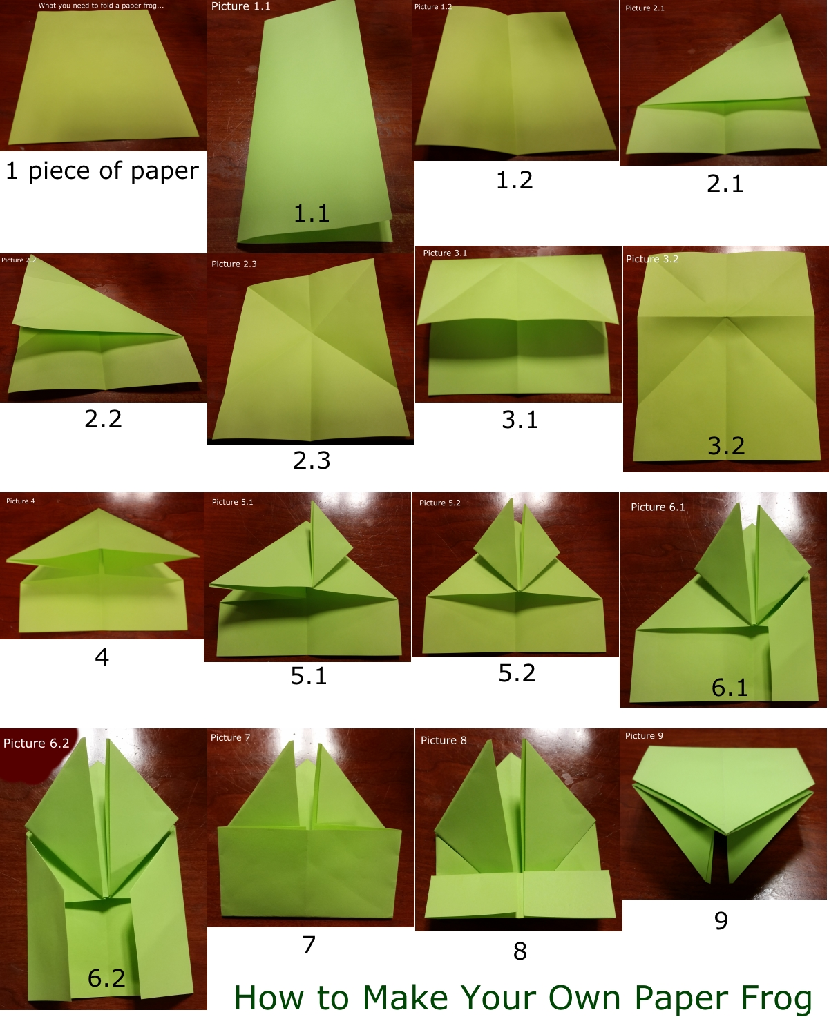 How To Make a Paper Jumping Frog - EASY Origami - YouTube | 1489x1200