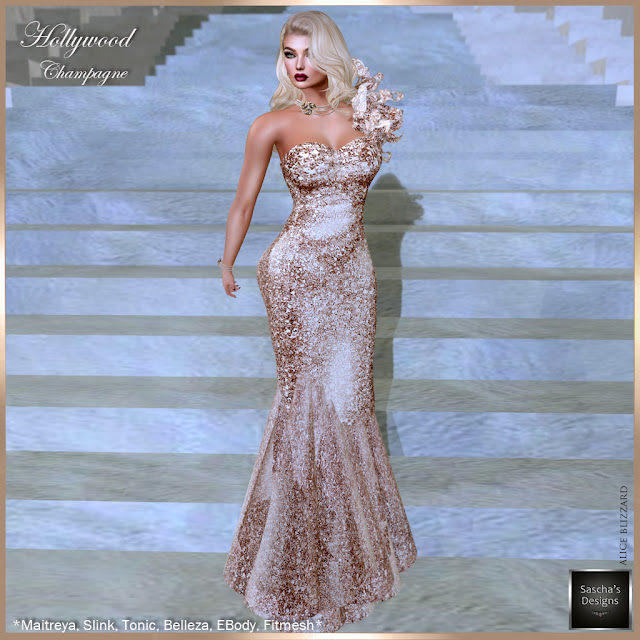 SASCHA'S DESIGNS - Hollywood Champagne Gown