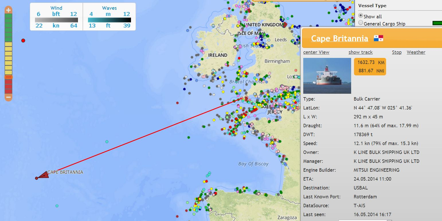 Through the Gaps! - Newlyn Fishing News: Extreme AIS data
