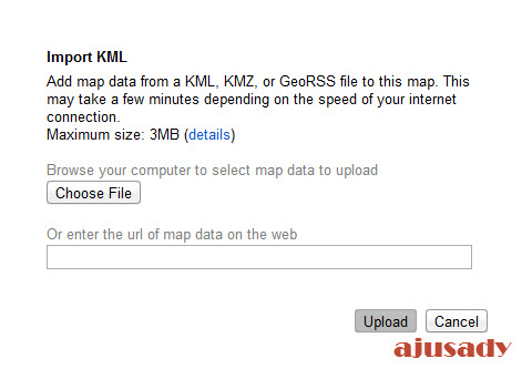 technology-lifestyle: How To Import Map (KML, KMZ) to Google