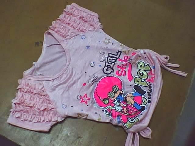 modelos de blusas para niñas con tiras fruncidas