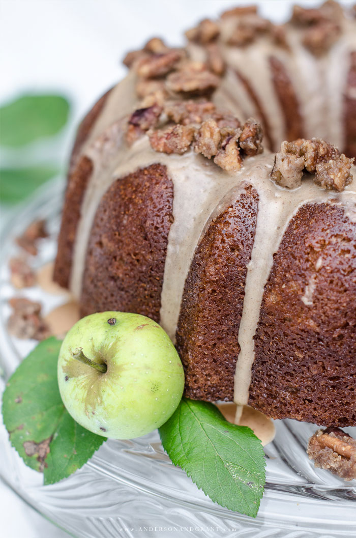 Fresh apples with Apple Cider Pound Cake