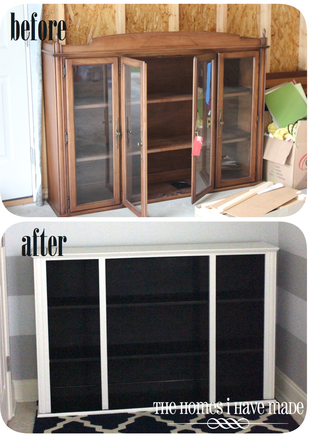 Two-Toned Bookcase (from a dining room hutch!) | The Homes ...