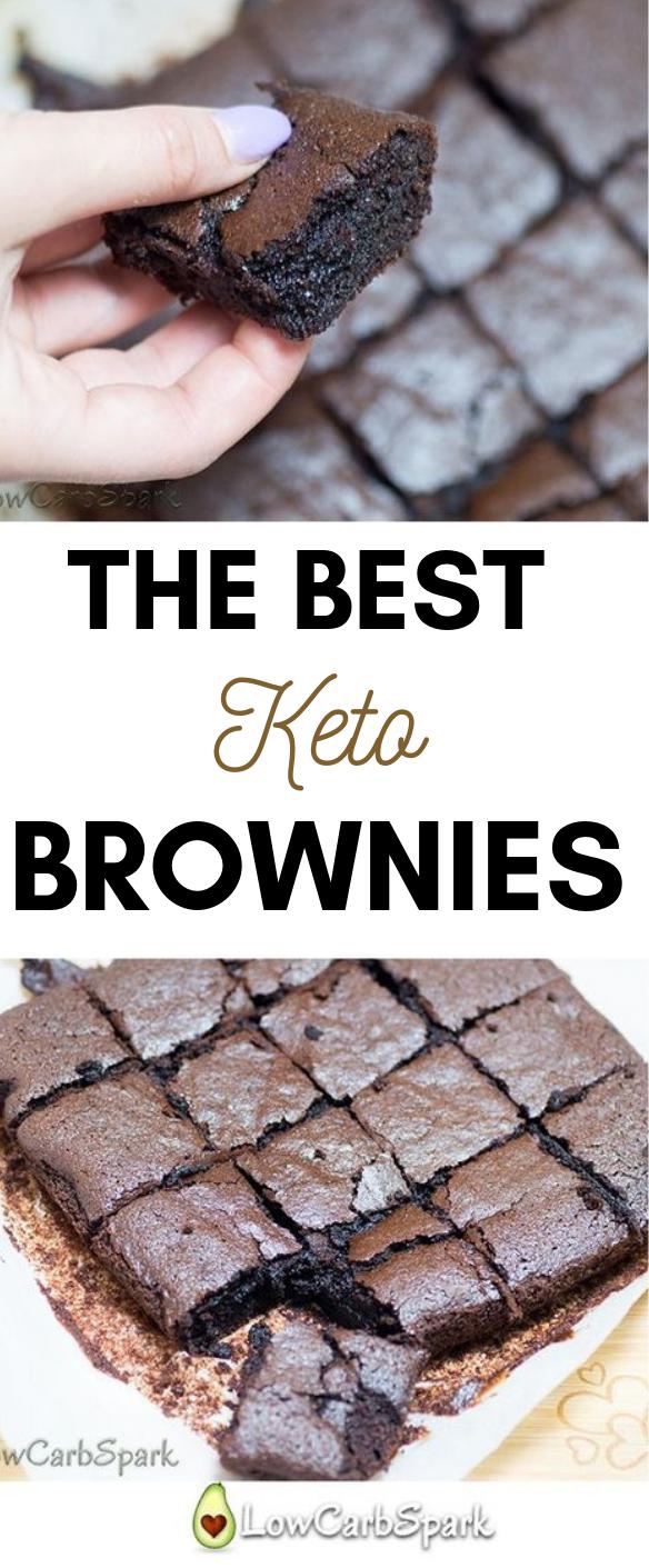 Best fudgy keto brownies #brownies #keto