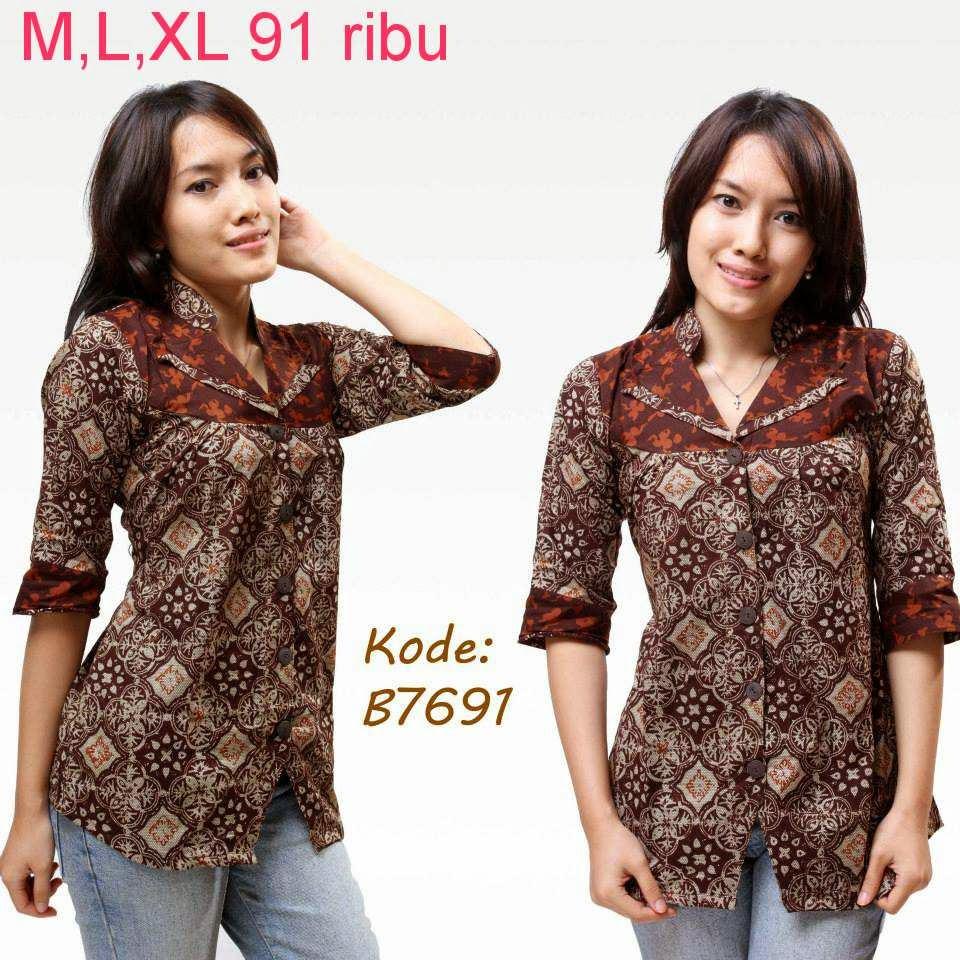 Download Baju Batik Wanita: Contoh Model Baju Batik Wanita
