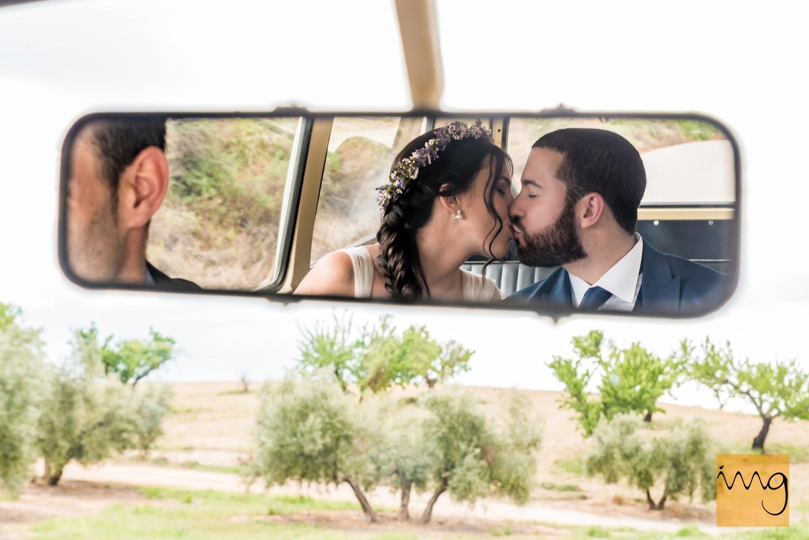 Fotografía creativa de boda en Granada