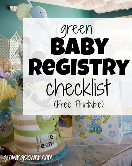 Green Baby Registry - Natural Baby Registry Checklist