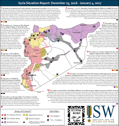 Syria Situation Report: December 22, 2016 - January 19, 2017