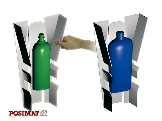 Unscrambler saat pergantian bentuk botol