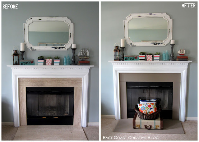 Simple Fireplace Upgrade {Annie Sloan Chalk Paint}