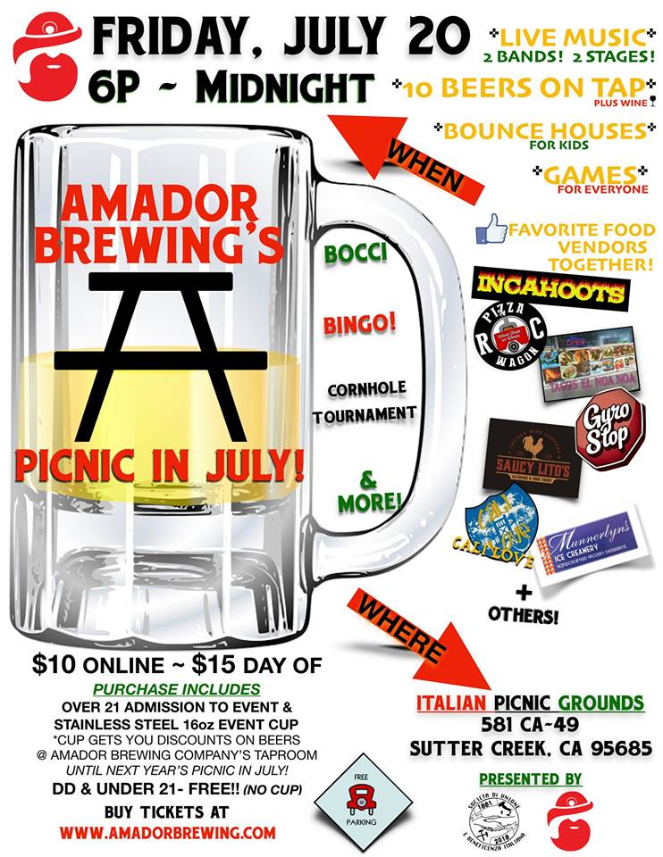 Amador Brewing's Picnic in July - Fri July 20