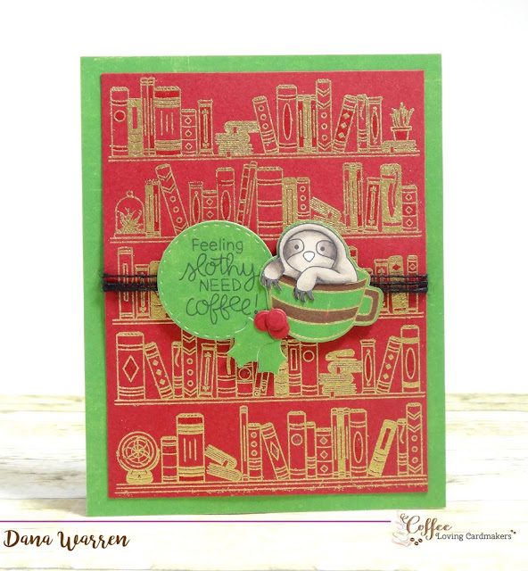 Dana Warren - Kraft Paper Stamps - Hero Arts Newton's Nook Wow Embossing Powder Coffee