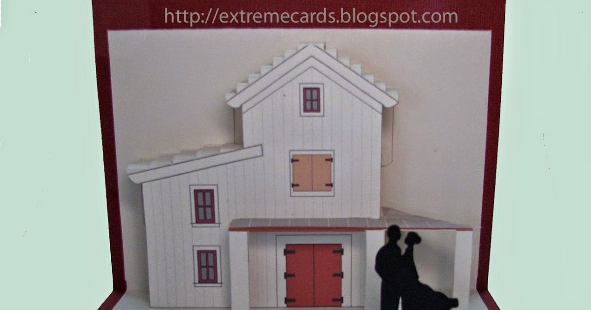 Extreme Cards And Papercrafting Wedding In A Barn Pop Up Card