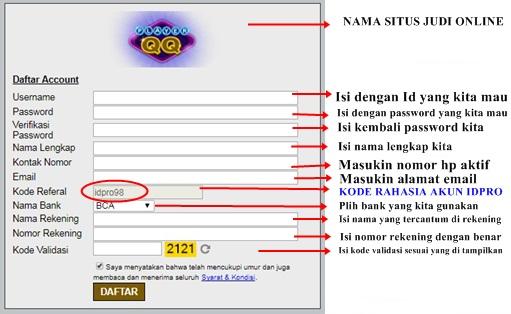 Panduan Dasar Cara Daftar ID PRO Di Semua Situs Judi Poker Online