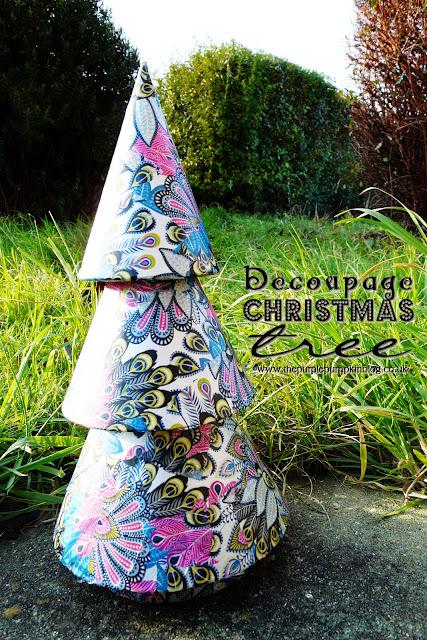 Decoupage Christmas Tree   The Purple Pumpkin Blog