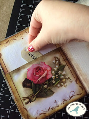 French Rose Junk Journal Tutorial : My Porch Prints