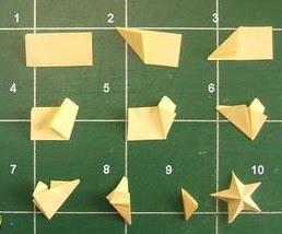 atelier de marcellou mini etoile origami 3d. Black Bedroom Furniture Sets. Home Design Ideas
