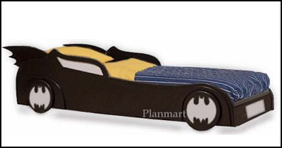 childrens batman batmobilecar bed woodworking plans