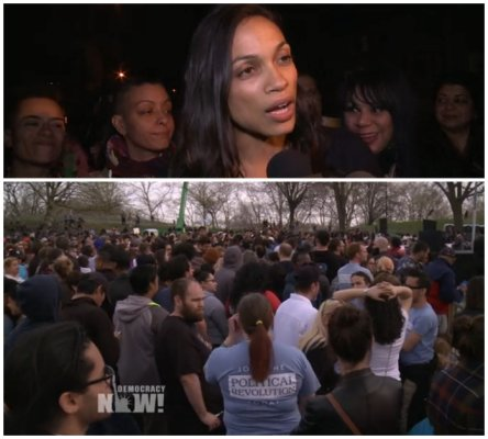 Rosario Dawson St. Mary's Park in the South Bronx New York