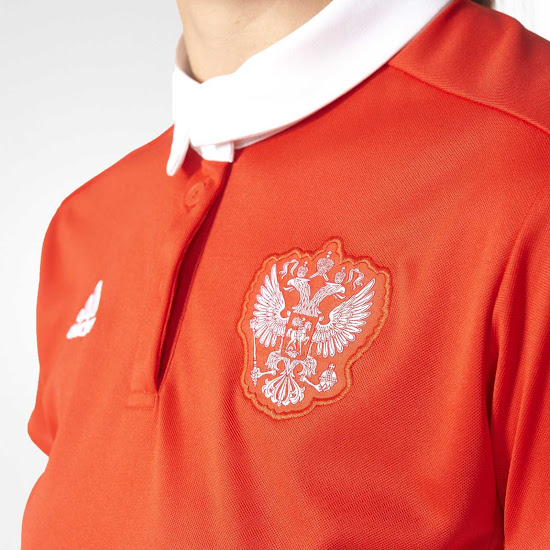 Sortie des maillots de la Russie domicile et extérieur pour
