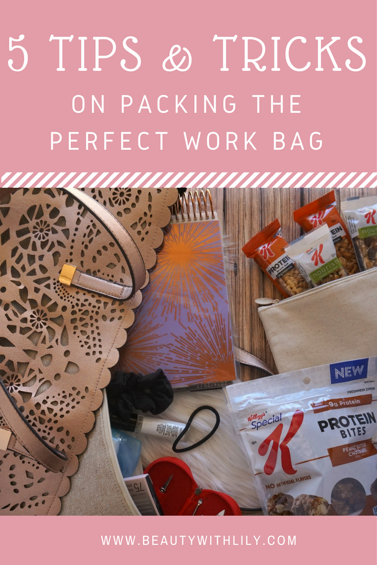 How To Pack The Perfect School or Work Bag // Tips & Tricks To Avoid Over-Packing | beautywithlily.com