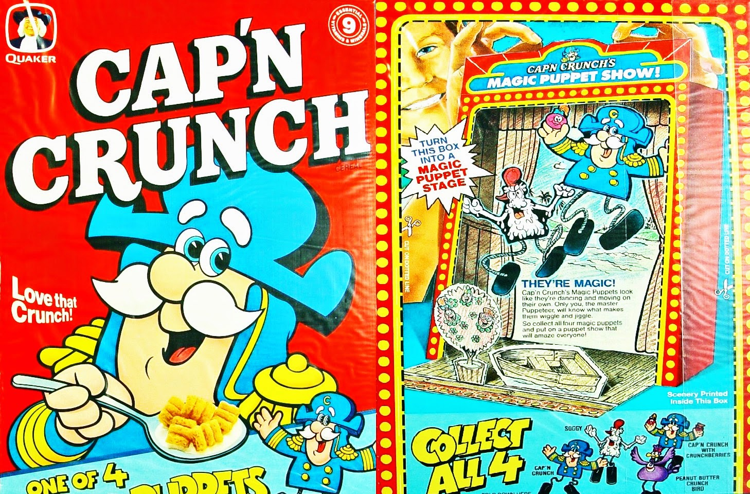 1990 capn crunch cereal box 5 to 1000 - Captain Crunch Halloween