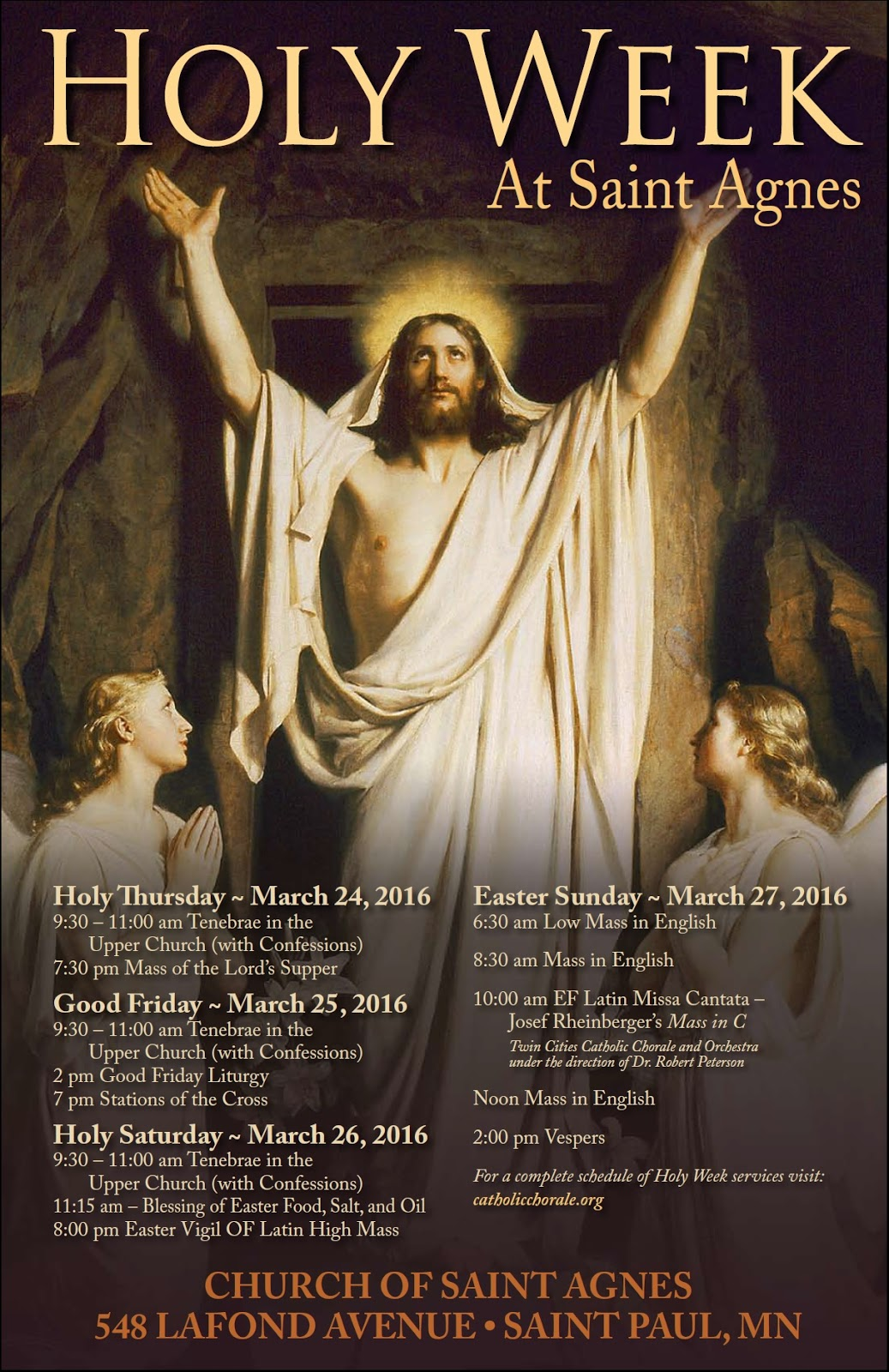 New Liturgical Movement Holy Week Schedule