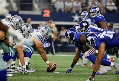NFL : Giants 1-Point Favorites Over Cowboys in Week 1
