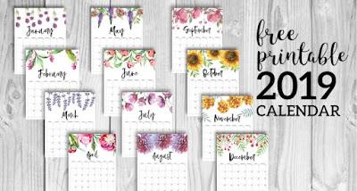 free pretty 2019 calendar