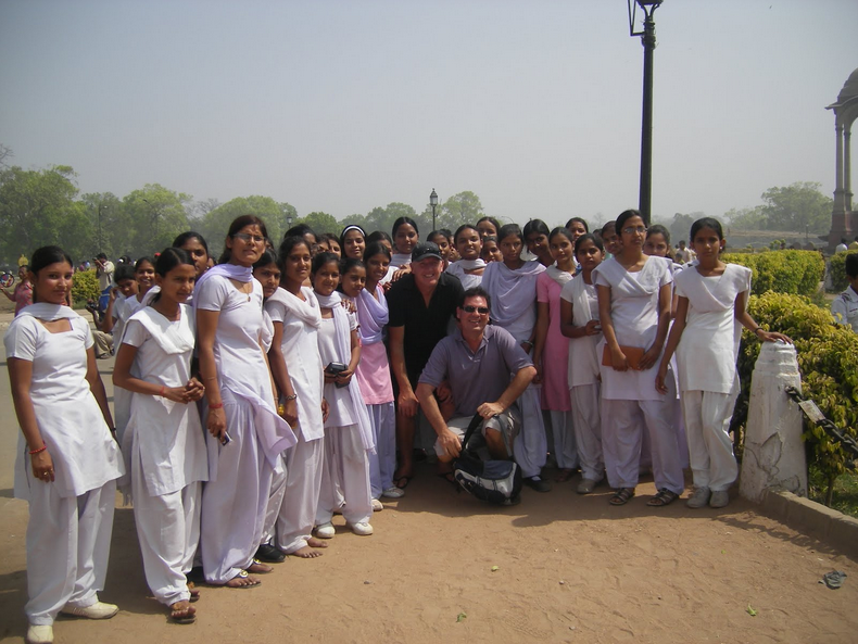 Indian School Girl with strars