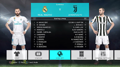 PES 2018 PS4 FBNZ Option File 2018 by Cristiano92 Season 2017/2018