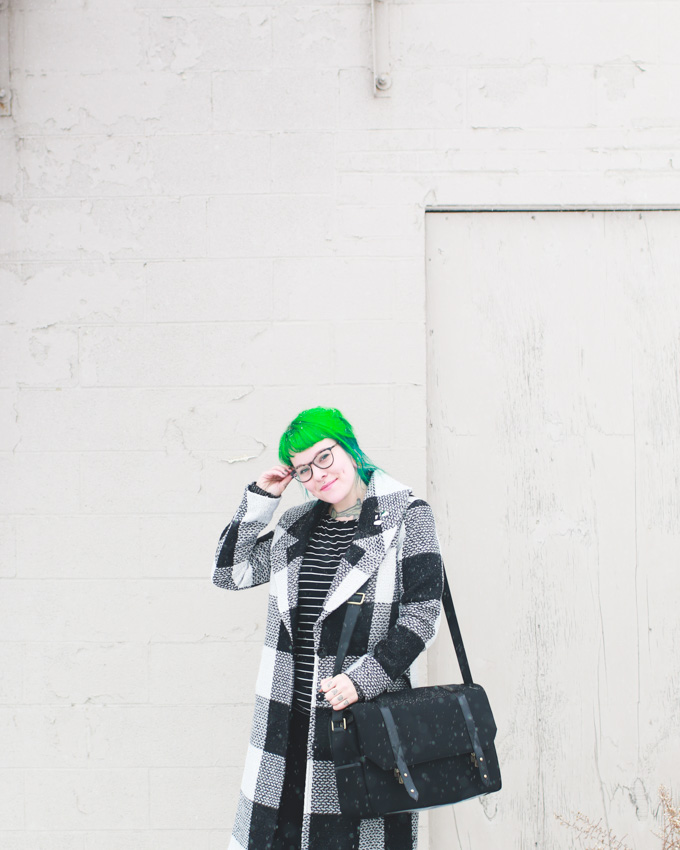 plaid coat, the dainty squid, cleveland blogger, fashion blog