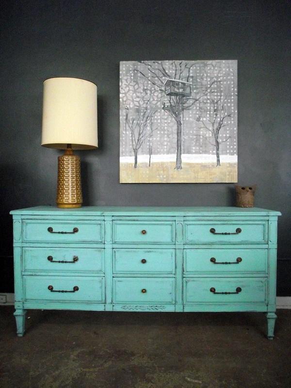 Vintage Ground Vintage Distressed Tiffany Blue Nine