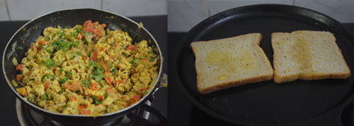 How to make Egg Bhurji Sandwich
