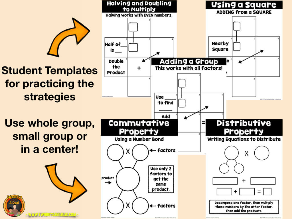 Multiplication fluency practice templates
