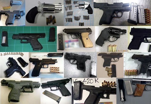67 firearms discovered