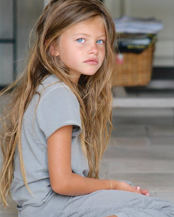 The French beauty Thylane Blondeau has been conquering the model world since childhood. When the baby was 6 years old, she was recognized as the most beautiful girl in the world . At 10 she got into the center of a huge scandal when her photo session was published in Vogue magazine, but many readers found the pictures too frank.