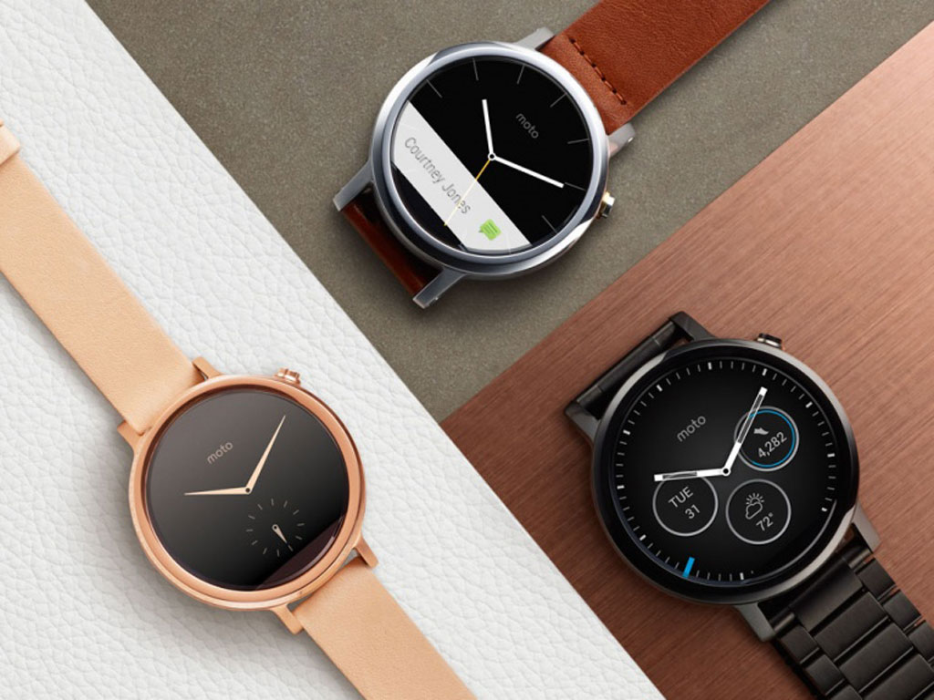 Moto 360 2nd Gen Rose Gold, Black & Silver