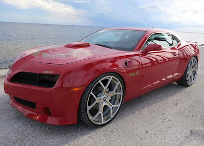 "2018 Trans Am - Victory Red V6 dropped with Custom 24"" Forgiato's"
