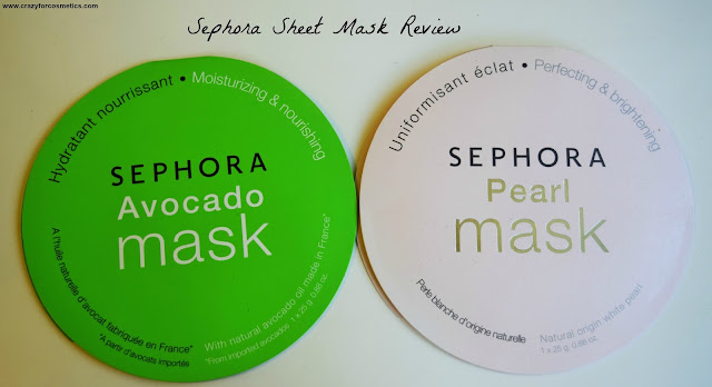 Sephora Sheet Masks - Avocado & Pearl Mask Review