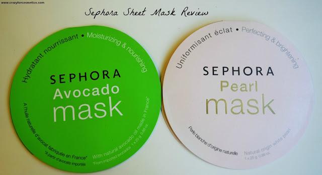 Sephora Sheet Masks - Avocado & Pearl Mask Review