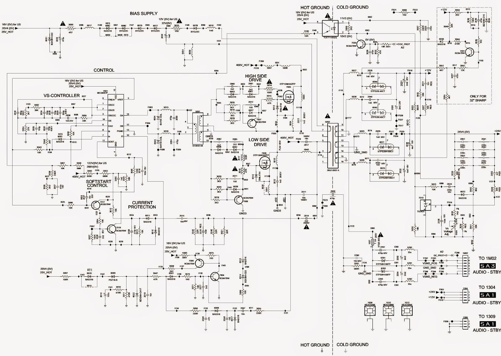 philips power vision tv circuit diagram