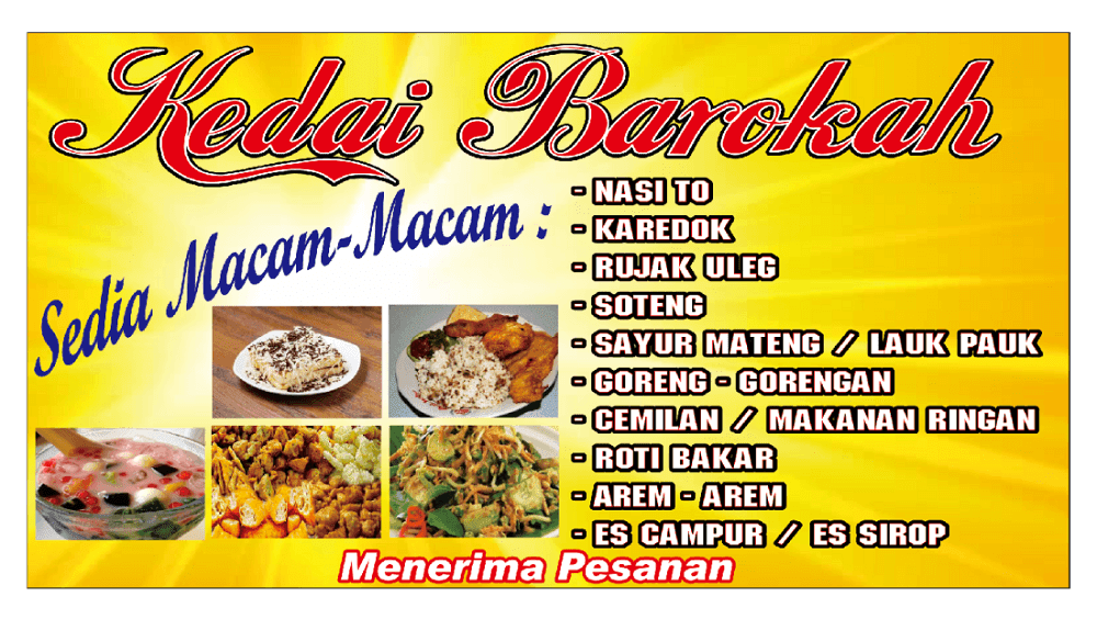 Contoh Spanduk Jajanan Pasar