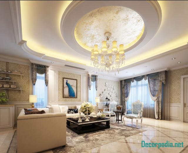 gypsum ceiling designs for living room and hall, false ceiling pop design 2019
