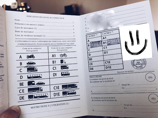 Międznarodowe Prawo Jazdy - wersja francuska w środku