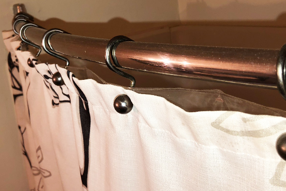 Bathroom design ideas curved shower rod
