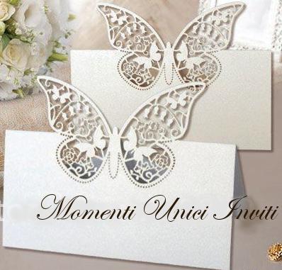 segnatavolo NOVITA': Segnatavolo e Portaconfetti Butterfly da abbinare alle farfalle segnapostoAvvisi - Novità