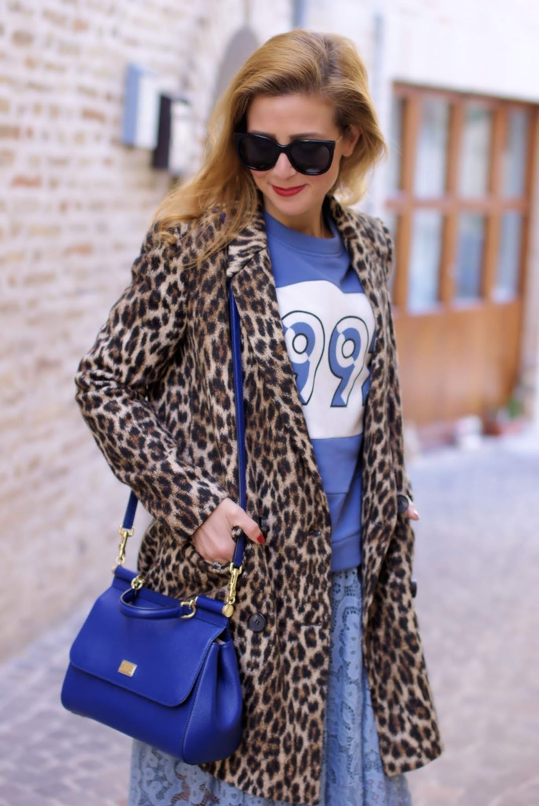 Leopard jacket and lace skirt on Fashion and Cookies fashion blog, fashion blogger style